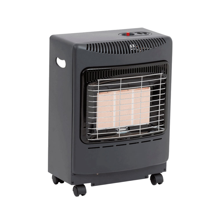The black Mini Heatforce Gas Cabinet Heater