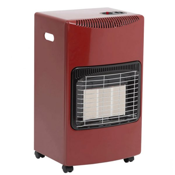seasons warmth mobile gas heater - red