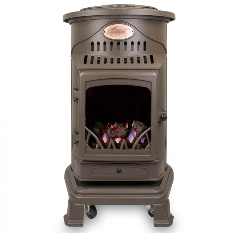 provence honey brown portable gas heater